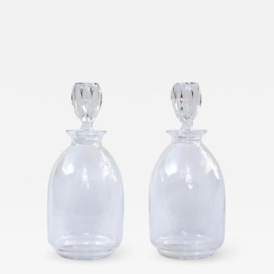 Rene Lalique A Pair of Lalique Crystal Decanters 1970