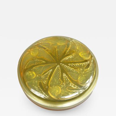 Rene Lalique A Yellow And Opalescent M sanges Boxe Designed By R Lalique In 1921