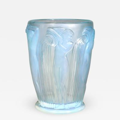 Rene Lalique An Opalescent Danaides Vase Designed By R Lalique In Vase