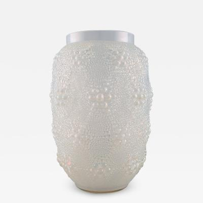 Rene Lalique Early and large Ren Lalique Davos vase in opalescent art glass