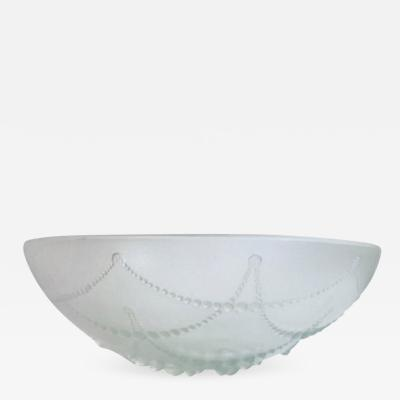 Rene Lalique Opalescent glass bowl by Ren Lalique
