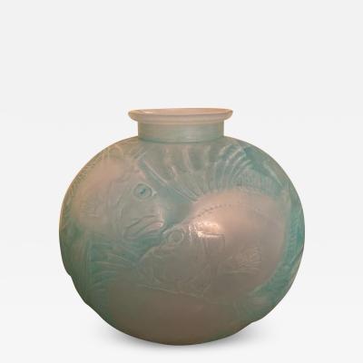 Rene Lalique Poissons Vase