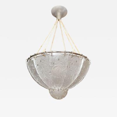 Rene Lalique R Lalique Chandelier Feuilles de Charmes