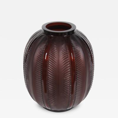 Rene Lalique R Lalique Glass Biskra Vase 1932
