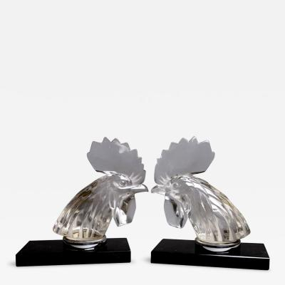Rene Lalique Roosters Bookends By R Lalique Made In 1928
