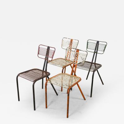 Rene Malaval Rare Set of Four Rene Malaval Radar Chairs
