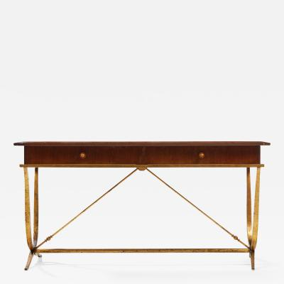 Rene Prou French Art Deco Desk by Ren Prou