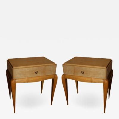 Rene Prou Pair of Art Deco End Tables by RENE PROU