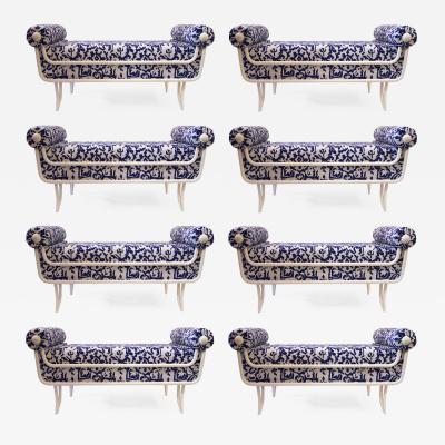 Rene Prou Ren Prou 1889 1947 Set of Eight Sofas Circa 1950 France