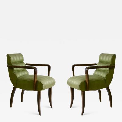 Rene Prou Rene Prou Pair of Petite Scale Armchairs
