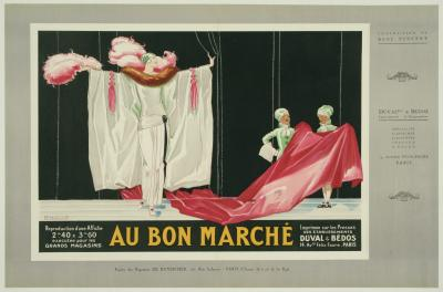 Rene Vincent French Art Deco Period Fashion Poster by Rene Vincent circa 1931