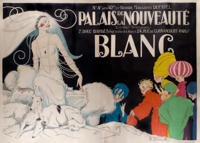 Rene Vincent Monumental French Art Deco Period Poster by Rene Vincent circa 1920