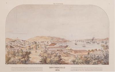 Reprint of an Old View of San Francisco Probably 19th Century