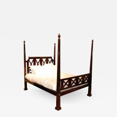 Reproduction Rosewood Queen Sized X Design Bed