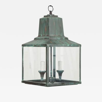 Reproduction Verdigris Copper Hanging Lantern