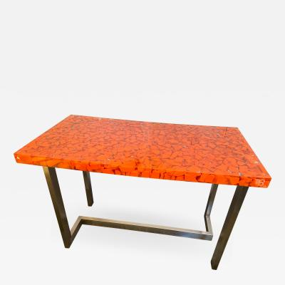 Resin Fractal Inclusion Console Table Desk by Thomas Brant France 2014
