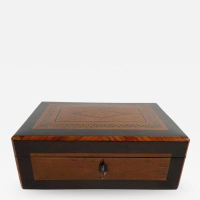Restored Biedermeier Box Birdseye Maple Ebony Rosewood Austria circa 1820