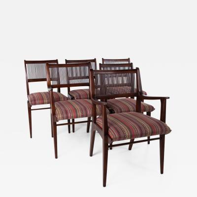Restored John Van Koert for Drexel Parallel Mid Century Dining Chairs Set of 6