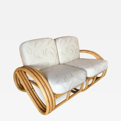 Restored Three Stranded 3 4 Round Pretzel Sectional Loveseat Sofa