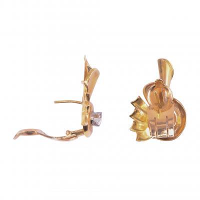 Retro Diamond 18K Rose Gold Earrings