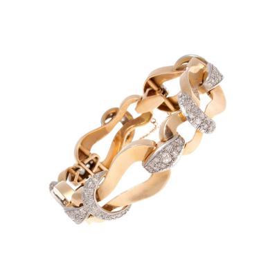 Retro Diamond Gold Bracelet