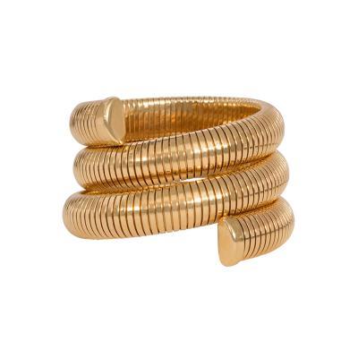 Retro Gold Gas Pipe Wraparound Bracelet