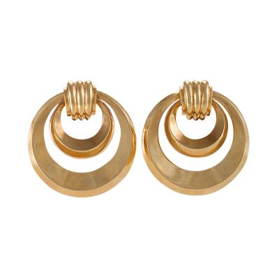 Retro Gold Hoop Earrings