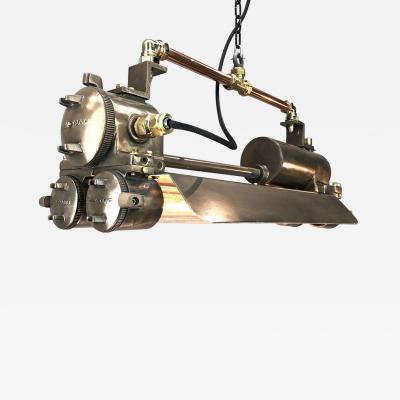 Retro Industrial Bronze Polished Brass Flameproof Striplight