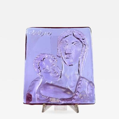 Reuven Rubin Fucina Degli Angeli Glass Tile Maternity