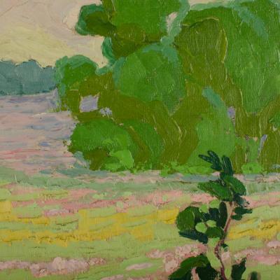 Reva Jackman Reva Jackman Kansas 1892 1966 A Fields View painting