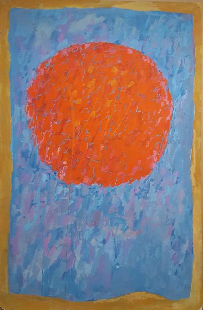 Rex J Ashlock Untitled Orange Moon