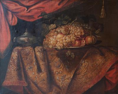 Reynaud Levieux STILL LIFE WITH GRAPES ATTRIBUTED TO REYNARD LEVIEUX 1620 1690