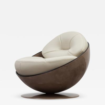 Ricardo Fasanello Esfera Swivel Lounge Chair