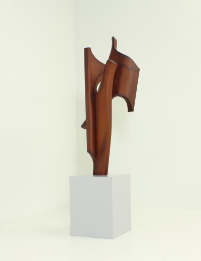Ricardo Morales Large Wood Sculpture by Ricardo Morales