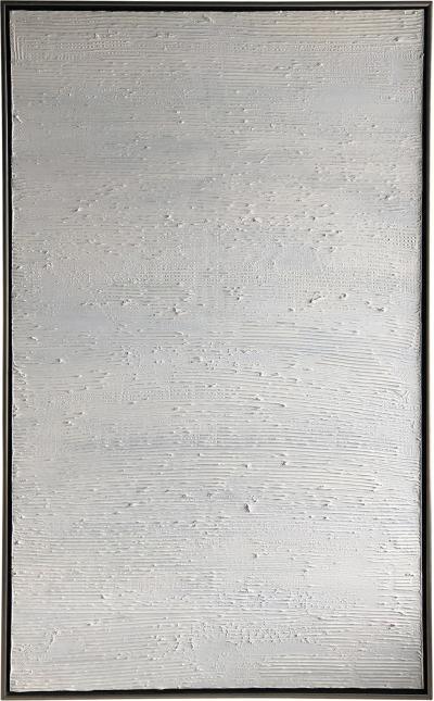 Ricardo Rumi White on White textured Oil Painting