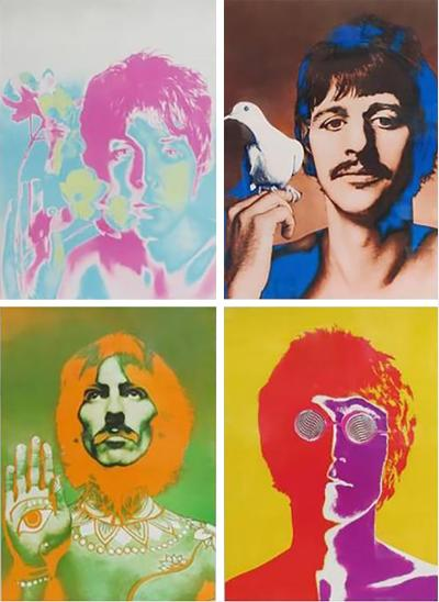 Richard Avedon Beatles by Richard Avedon Psychedelic Posters for Stern Magazine England 1967