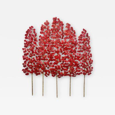 Richard B Smith 3 piece 5 stem translucent Red