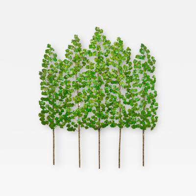 Richard B Smith 3 piece 5 stem translucent green