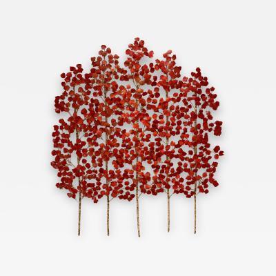 Richard B Smith Aspen Grove 1PC 5 Stem Translucent Red