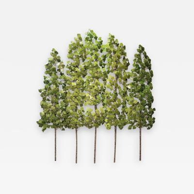 Richard B Smith Aspen Grove 3pc 5 stem Translucent Green