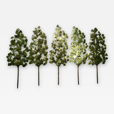 Richard B Smith Aspen Grove 5 pc 5 stem Translucent green
