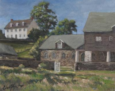 Richard Barnard Chalfant White House Oil on Panel by Richard Chalfant