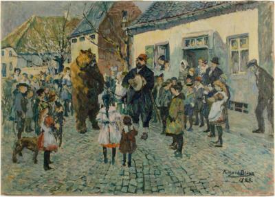 Richard Bloos Richard Bloos German 1878 1957 Performing Bear