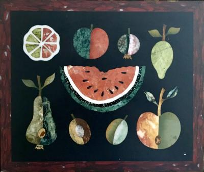Richard Blow Pietra Dura Still Life with Watermelon Florence 1950s