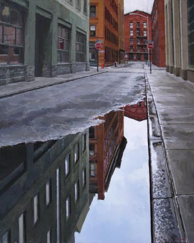 Richard Combes Morning Reflection Tribeca