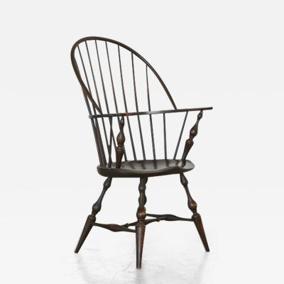 Richard Dimes Company Vintage Bowback Windsor Armchair in Black Crackle Maple by D R Dimes  sc 1 st  Incollect & Antique Mid-Modern and Modern Windsor Chairs on InCollect
