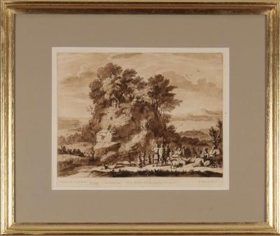 Richard Earlom Richard Earlom mezzotint engravings after Claude Lorrain c1777