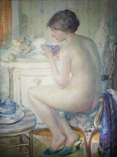 Richard Edward Miller Woman in a Boudoir