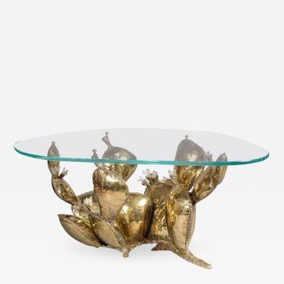 Richard Faure Sculpture Coffee Table Prickly Pear by Richard Faure France circa 1975