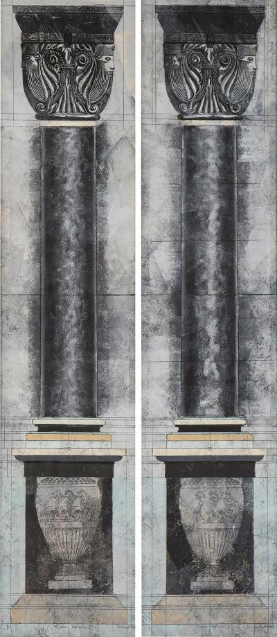 Richard Hall Column Reflection I II